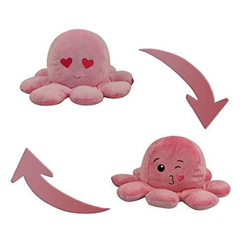 Kinderspielzeug Geschenk Plüschtiere niedlich kleine tintenfisch Toy Doppelseitiges Flip-Plüschtier Süße Wendepuppe Stofftierpuppe für Kinder Mädchen Jungen Freundin