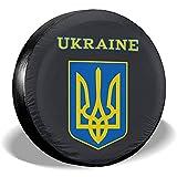 Spare Tire Cover-Ucraina Copriruota Ruota di Scorta Copertura dei Pneumatici Coperture Antipolvere Antipolvere per Tutte Le Auto(14-17 Pollici)