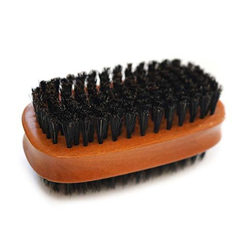 mdhsh, Doble Cara, Cepillo para Zapatos, Madera Maciza, PU, Pulido de Cuero, Limpieza de los Zapatos, Herramienta de Cuidado