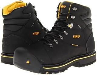 Keen Utility(キーン) メンズ 男性用 シューズ 靴 ブーツ 安全靴 ワーカーブーツ Milwaukee WP - Black [並行輸入品]