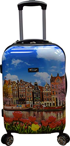 """Kemyer 788 Vintage Series 20"""" Lightweight Expandable Spinner Luggage (Amsterdam)"""