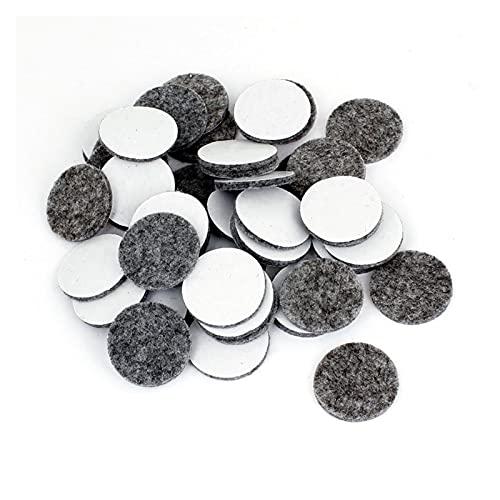 Protectores de pies para sillas 100 piezas de mesa redonda muebles pierna fieltro cojín cojín gris para muebles/mesa/silla / (Color : Dark Grey)