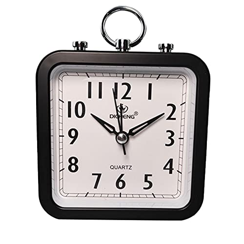 Blan Despertador cuadrado para oficina o casa, simple y redondo, reloj de estudiante, pequeño despertador, reloj despertador, reloj despertador, de calidad è buona.