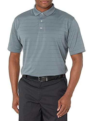 Callaway Men's Basic Short Sleeve Opti-Vent Open Mesh Polo Golf Shirt, Quiet Shade , X-Large
