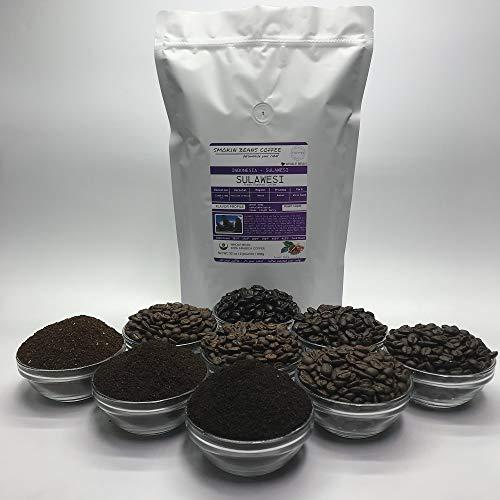 2 Pounds – Indonesian – Sulawesian Toraja – Roasted To Order Arabica Coffee – Order Today/We Roast Today – Choose Roast Level (Light /Blonde /Medium /Med-Dark /Dark /Italian) (Whole Bean / Ground)