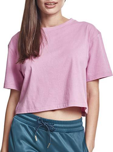 Urban Classics Damen T-Shirt Ladies Short Oversized Tee, Rosa (Cool Pink 01467), Small