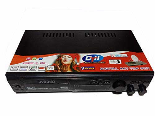 XZOANMOL Climax DD DTH Digital Satellite Receiver Set Top Box d2h Direct to Home with Amplifier, & Full Metal Body (Free to a