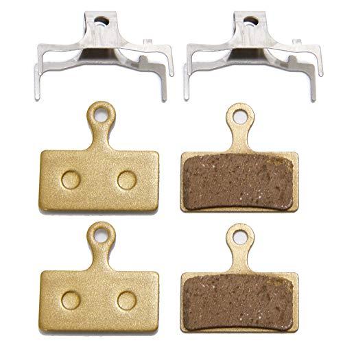 Anladia Pastillas Freno Disco, 2 Pares de 4 Pastillas de Freno de Disco de Bicicleta para Shimano G01A/ G01S XT Deore G02A