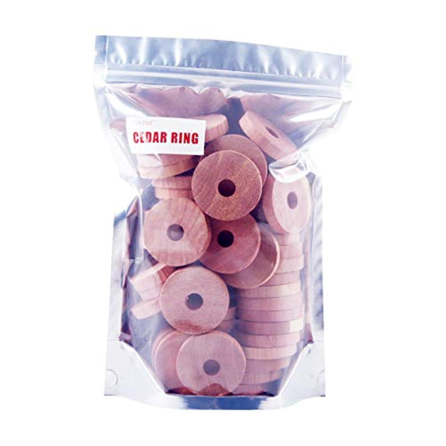 Cedar Rings for Hangers - 100% U.S Red Cedarwooden Blocks 50 Cedar Rings