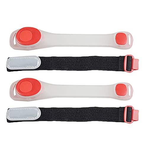 2 bandas de muñeca luminosas LED para brazo de seguridad, advertencia de seguridad, iluminación interior