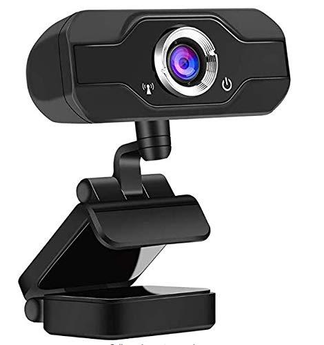 maxineer Webcam Full HD 1080P mit Mikrofon geräuschunterdrückendem, Webcam USB Plug & Play für Laptop, Computer, Desktop, Live-Streaming, Videoanruf, Konferenz, Vollständigem 360-Grad-Schwenkradius