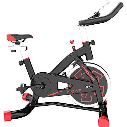 Bicicletta da Spinning Esercizio da Bici da casa Allenamento da Interno Bicicletta, Attrezzature Sportive, Dispositivo di Allenamento aerobico, può Essere Regolato Secondo Le proprie Esigenze,Red