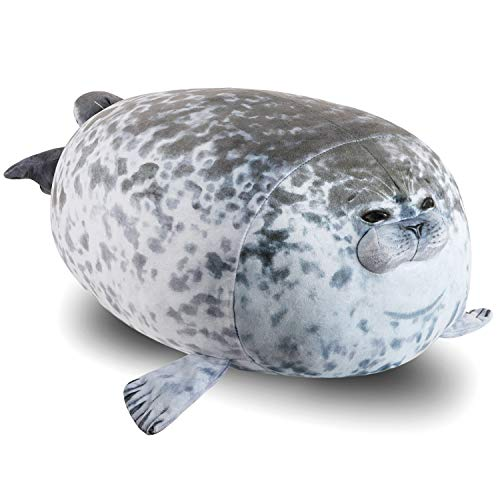 OOTO Robbe Kuscheltier, Plüschtiere Robbe Kissen Seal Pillow Plush Super Weich Schlafkissenspielzeug Komplett mit Füllung, 60 cm