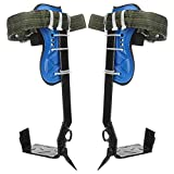 sportuli Tree Pole Climbing Spike Set,1 Gears 304 Stainless Steel Claw Climbing Tree Spikes with Adjustable Safety Belt Straps (1 Gear)