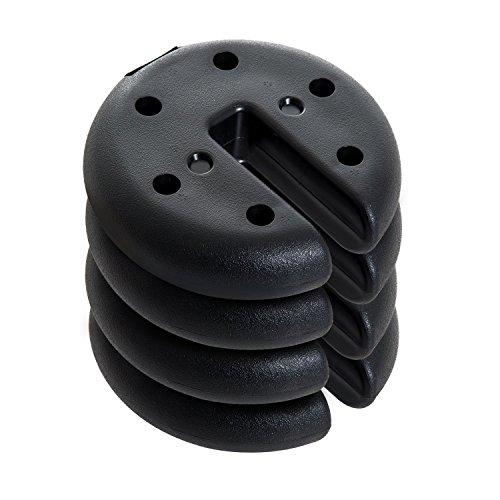 Outsunny Base per Gazebo Tenda 4pz Riempito con Cemento Peso 8.8kg Φ20 × 4.5cm