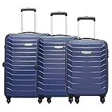Aristocrat Juke Midnight Blue Polycarbonate Hardsided Luggage Set of 3 Small, Medium & Large (JUKESETTMIB)