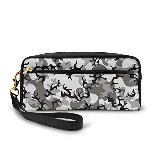 Pencil Case Pen Bag Pouch Stationary,Camouflage Concept Concealment Artifice Hiding Force Uniform Pattern Fashion,Small Makeup Bag Coin Purse