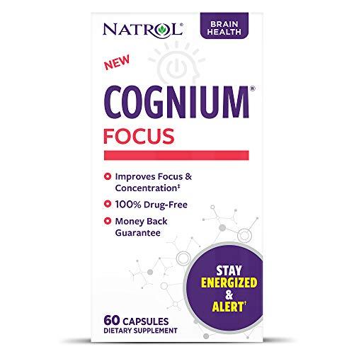 Natrol Cognium Focus, Brain Health and Focus Supplement, 60 Capsules
