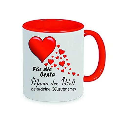 Crealuxe Voor de beste mama ter wereld je naam / jouw wensnaam - koffiekopje, bedrukte mok met spreuken of foto's, bureaumok,