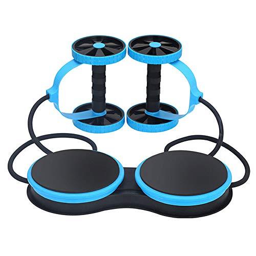 Yxs Ab Roller Rad- 5-in-1 Multi-Funktions-Core Bauchmuskeltraining Bauchdoppel Abzieher Machine + Ab Roller Beweglicher Hauptganzkörper-Widerstand Trainer