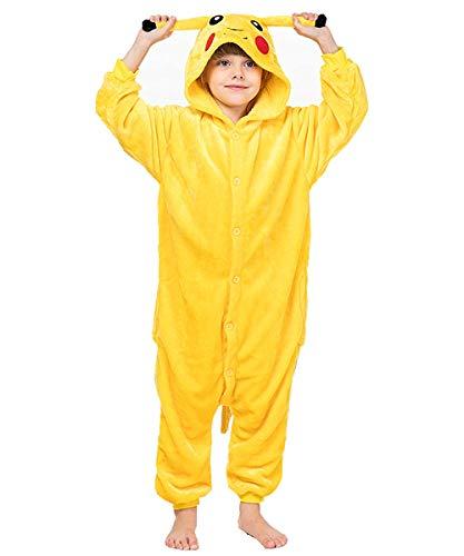 IUTOYYE Combinaison Pyjama Cosplay Costume de Sommeil Vêtement de Nuit Soirée de Déguisement Carnaval Cosplay Halloween Noël Fête Dessin Animé pour Bébé Garçon Fille (Taille 120)