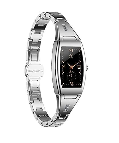 XYJ Smart Watch compatible con iPhone y teléfonos Android Tracker Fitness con presión arterial y monitor de ritmo cardíaco Notificación de mensaje de llamada Previsión meteorológica IP67 A prueba de a