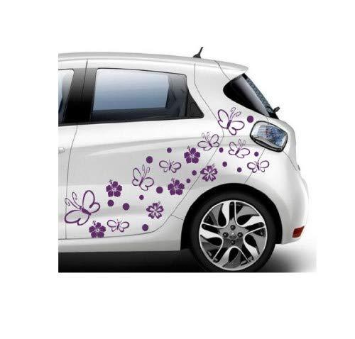 Pegatina Promotion SL - Pegatinas autoadhesivas, diseño de hibiscos, para ventanas, puertas, coches, motos