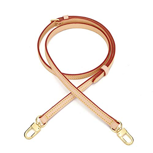 Handmade item Dimension: Width 1.2cm(0.47inch) ,Adjustable length from:41 - 49 inches(105-125cm),includes snap hooks Material: Vachetta leather - Vachetta is premium cowhide leather,it is left untreated and is therefore susceptible to water and stain...