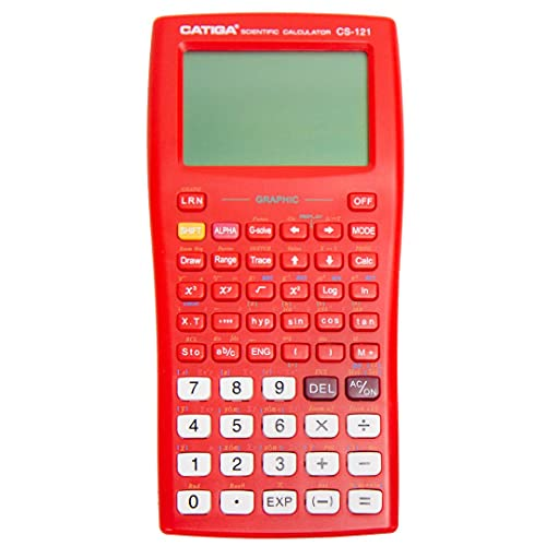 Scientific Graphic Calculator - CATIGA CS121 - Scientific and Engineering Calculator - Programmable System (Red)
