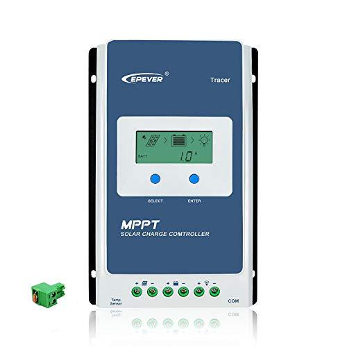 epever 10A MPPT Solar Laderegler 12V/24V Auto Work gemeinsamen Negative Erdung mit LCD Display Solar Panel Batterie Regulator Ladekabel für Gel vollgelaufene versiegelte Lithiumbatterie (10A MPPT)