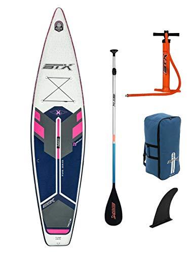 STX Tourer Pure 11';6 Aufblasbares Stand Up Paddle Board SUP-Paket - Board, Tasche, Paddel, Pumpe & Leine/Gurt - Purple Bue