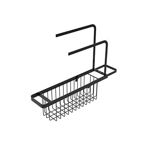 Sommer\'s Laden Teleskop-Waschbeckenhalter, Abflusskorb aus Kohlenstoffstahl Erweiterbar, Aufbewahrungsbeckenhalter Rack Schwamm Handtuchhalter Tablett für die Wohnküche