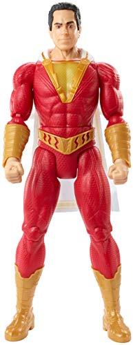 DC Shazam Figura de acción Shazam Luces y Sonidos 30cm, juguetes niños +4 años (Mattel GGY38)