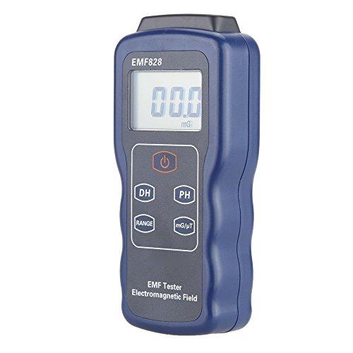 GJJSZ Messgerät EMF Tester Niederfrequenz-Elektromagnetisches Feldstärkemessgerät EMF828 / EMF829 Hochfrequenz-Feldstärkemessgerät-Anzeige Digitalanzeige (Art: EMF829)