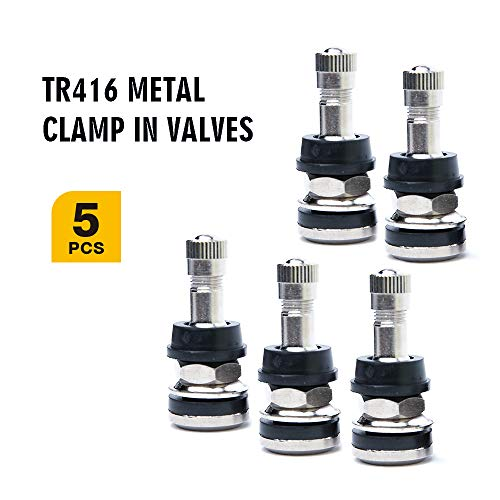 TR413 Tubeless Tire Snap-in Valve stems Pack of 20 Plus one Valve Core Remover WHEEL CONNECT Valve Stem EPDM Rubber with Brass Stem