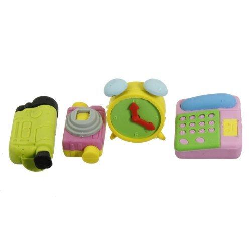 Well-Goal a forma di a forma di telefono cellulare, in gomma Per cancellare, giocattolo Per bambini, Set da 4 '