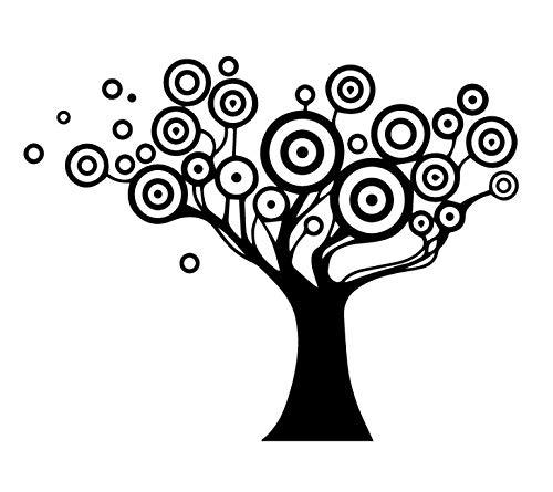 Creatieve persoonlijkheid Kleine stip Grote Boom Plant DIY Verwijderbare PVC Muurstickers Kinderkamer Slaapkamer Woonkamer TV Achtergrond Tuin 28 * 35cm