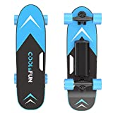 Cool&Fun Electric Skateboard, Brushless Motor Electric Skateboard with Remote, 10MPH Top Speed, 7 Miles Range, 3 Speeds Adjustment, Max Load up to 200 Lbs, Electric Skateboard for Adults (Blue)
