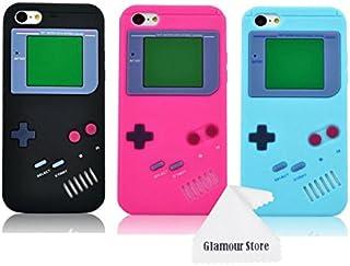 iPhone 6ケース、レトロ3Dゲームボーイゲームデザインスタイルソフトシリコンカバーケース、Apple iPhone 6 6G 4.7インチ用、Apple iPhone 6 Plus 5.5インチには適合しません + 無料クリーニングクロス付き