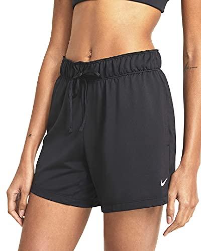 NIKE W NK DF Attack SHRT Shorts, Black/Black/(White), L Womens