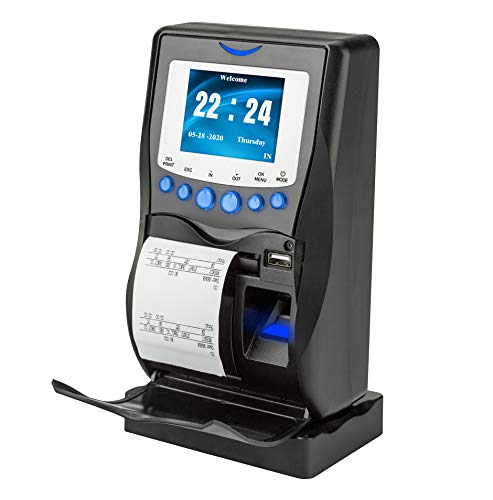 AT5000 Fingerprint & Badge Employee Time Clock with Printer, Battery, USB Drive and 5-Badges Included