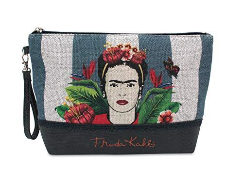 Neceser de Tela con Cremallera con Estampado de Frida Kahlo. Bolso/Neceser de la Talla M Tener Todos los articulos de Aseo Personal ordenados y a Mano Cuando salimos de Viaje.