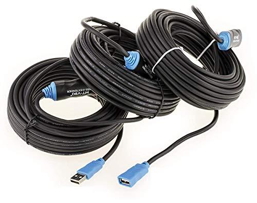 Cable alargador USB 2.0 Active con amplificación, longitud 30 m (USB 2.0...