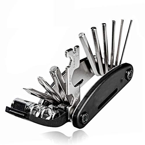 WKZWY-furniture cover Kit d'outils de réparation Multi de vélos de vélo 16 en 1, clé à Outils de Tournevis à Cycle Hexagonal (Color : Noir)