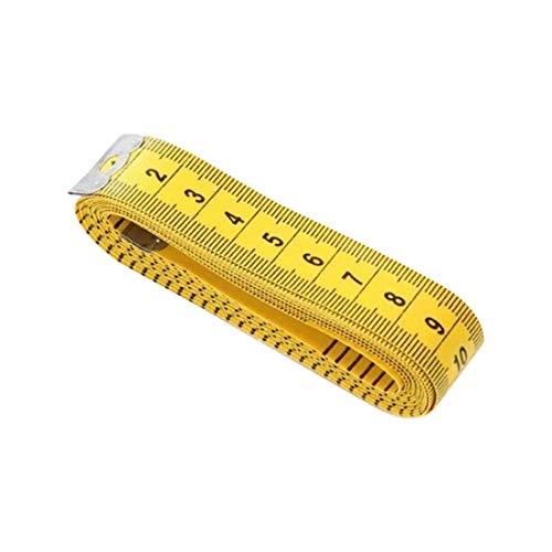 LUCHAO Ropa Sastres Regla Regla de Costura Suave Durable 3 Metros 300 cm de Costura a Medida Cinta Cuerpo Medida Regla de medición Confección (Color : Yellow)