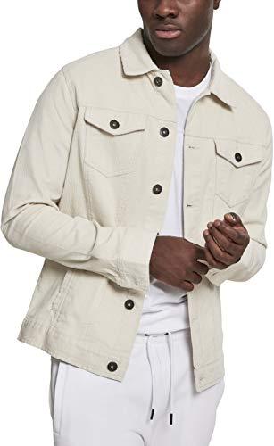 Urban Classics Herren Jeansjacke Jacke Corduroy Jacket, Weiß (Offwhite 00555), XXX-Large (Herstellergröße: XXX-Large)