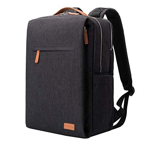 NOBLEMAN Rucksack Herren, Laptop Rucksack wasserdicht Schulrucksack Herren Rucksack Backpack Men rucksäcke Herren Schule 15,6 Zoll Laptop Rucksack USB (Black)
