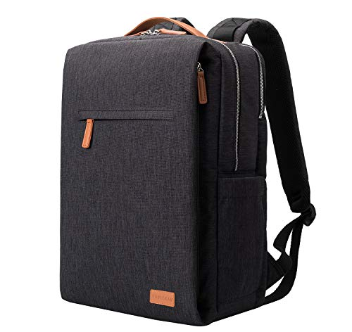 NOBLEMAN Rucksack Herren&Damen, Laptop Rucksack wasserdicht Schulrucksack Herren Rucksack Backpack Men rucksäcke Herren Schule 15,6 Zoll Laptop Rucksack USB (Black)