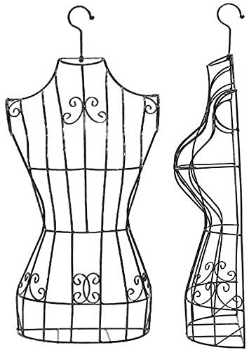 SDHENAILIAN Maniquí Confección Maniquí Femenino Colgando Medio Cuerpo De Metal, Gancho Giratorio De 360 ° Y Marco De Alambre, para Blusa/Vestidos De Boda/Vestidos/Ropa Interior (Color : Black)