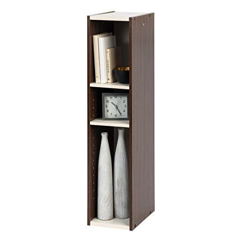 IRIS USA OWR-200BR 3-Shelf Slim Open Wood Shelving Unit, Brown